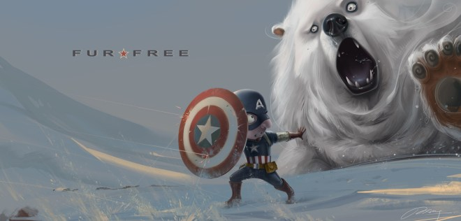 Captain America - Fur Free by JXing