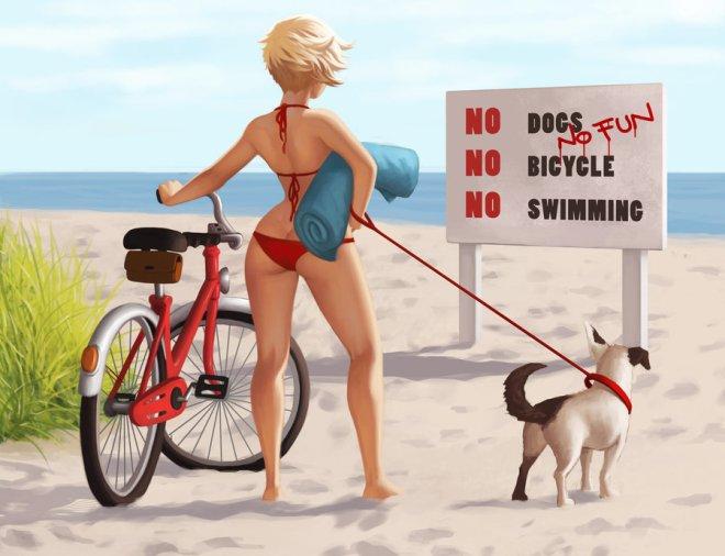 No Dogs by Daniela Uhlig