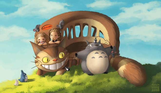 Totoro And Friends by Daniela Uhlig