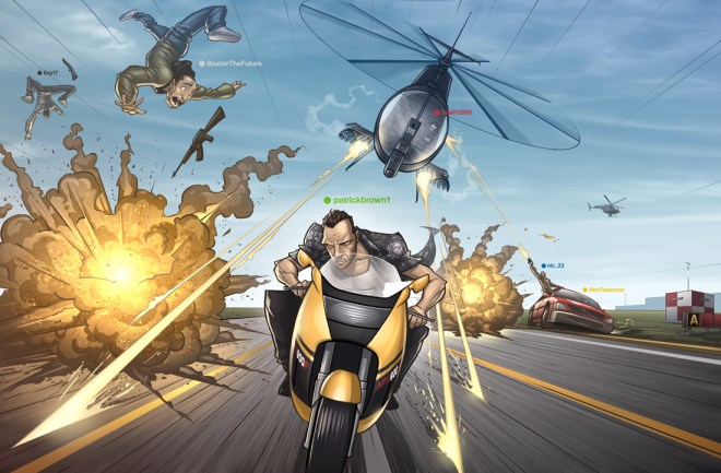 GTA : Comic Strip Trailer - Patrick Brown