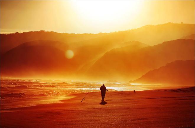 The fisherman of sunset