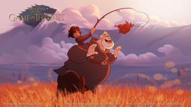 Bram and Hodor GOT Disney by Fernando Mendonca 64395364