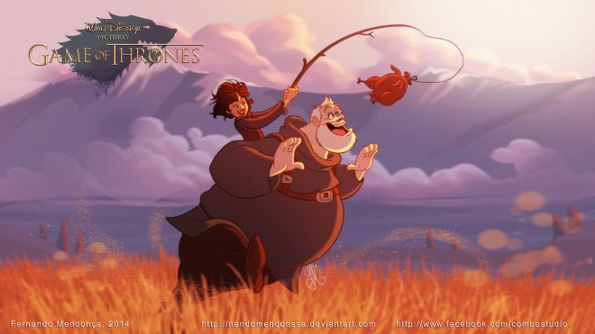 Bram and Hodor GOT Disney by Fernando Mendonca 64395364