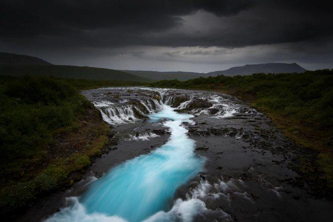 Turquoise Falls, Bruarfoss ©Jerome Berbigier