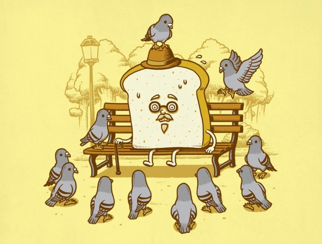 Pigeons And The Bread