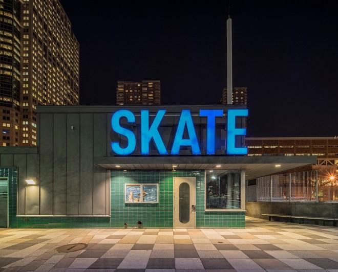 Skate Hudson River Park, Manhattan, New York City, 2014