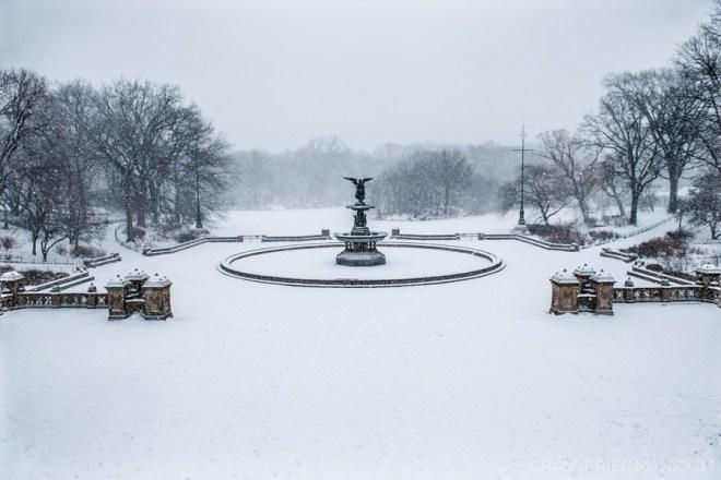 Snow Bethesda Fountain - Grant Friedman 0003