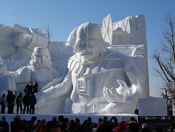 star wars geant neige sapporo festival 1123116