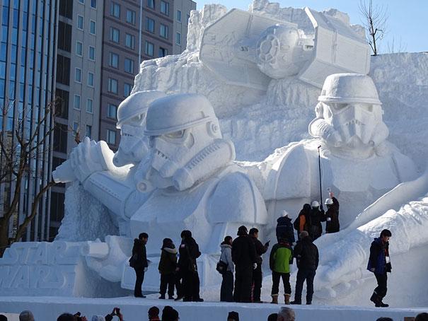 star wars geant neige sapporo festival 1821861