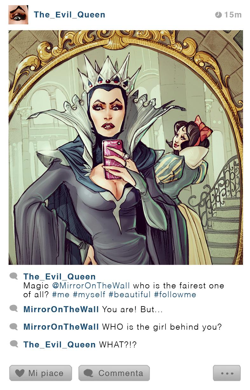 La Reine - Blanche-Neige et les Septs Nains - Disney Selfie - Simona Bonafini