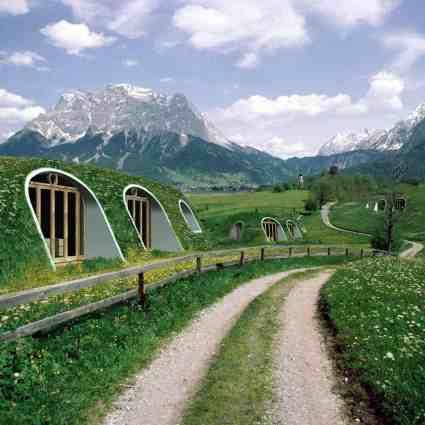 Maison de Hobbits préfabriquée dans laquelle on peut vivre
