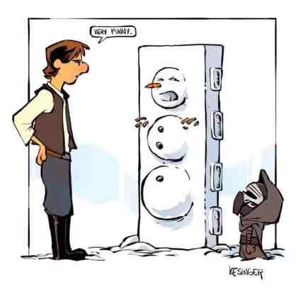 Mashup des univers de Star Wars et Calvin & Hobbes / Brian Kesinger