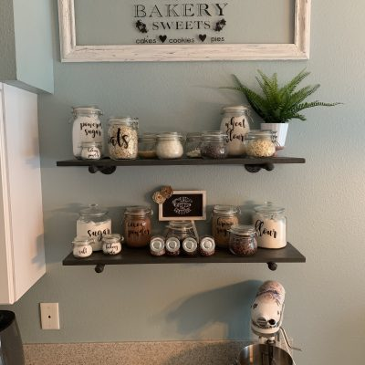 DIY Faux Window Bakery Sign
