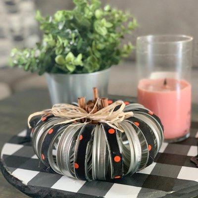 Diy Mason Lid Pumpkin