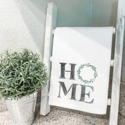 The Perfect Christmas Gift – DIY Tea Towel Ladder