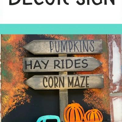 DIY Fall Decor Pumpkin Patch Sign