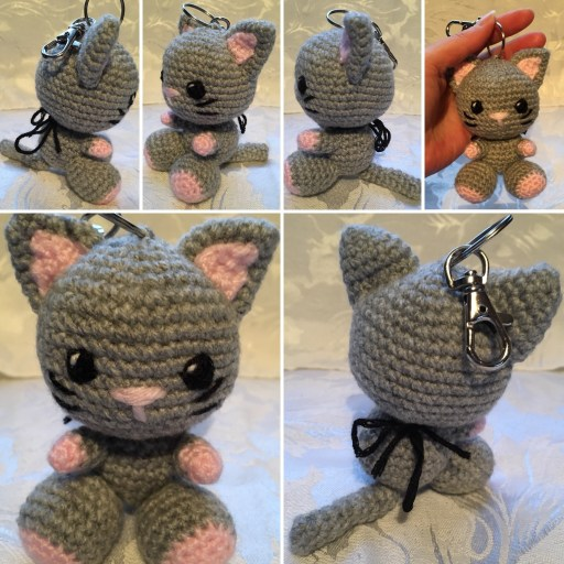 Kiki the Kitten Keyring Pattern - Free Crochet