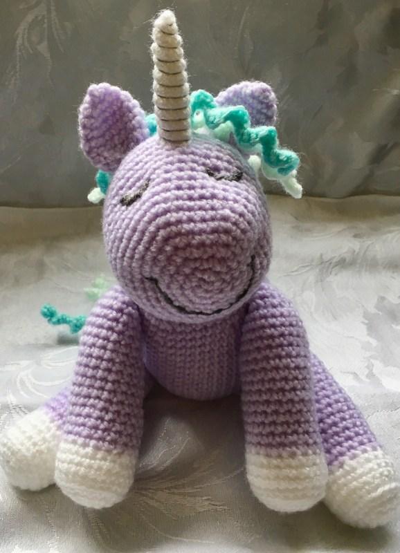 Sleepy Lavender Crochet Unicorn - Free Pattern Link
