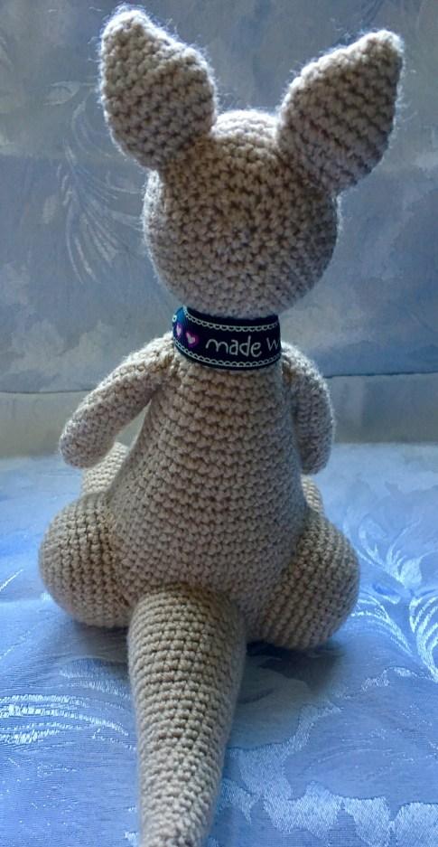 Handmade Crochet Kangaroo - Back