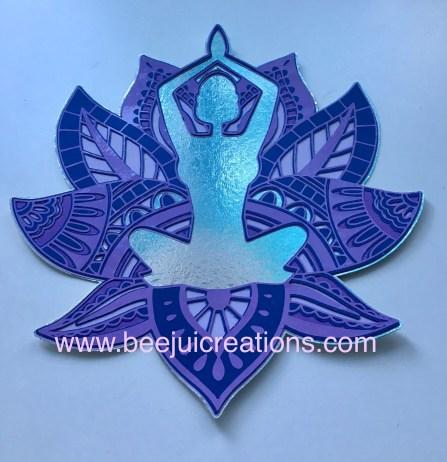 Lotus Flower Woman Mandala circle