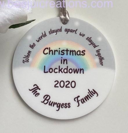 Lockdown Christmas Acrylic Ornament