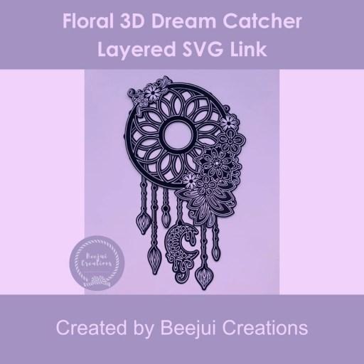 Floral 3D Dream Catcher - Layered SVG Link