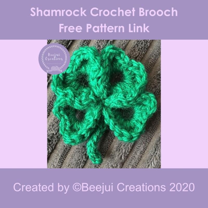 Shamrock Crochet Brooch Pattern