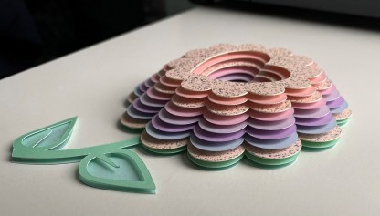 3D Pastel Layered Flower