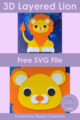 Free 3D Layered Lion - SVG File