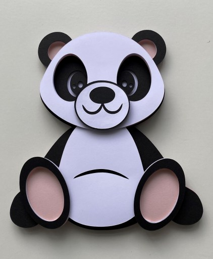 3D Layered Panda SVG - Free File & Tutorial