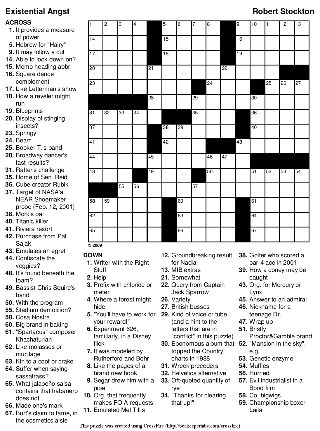 Beekeeper Crosswords Blog Archive Puzzle 97