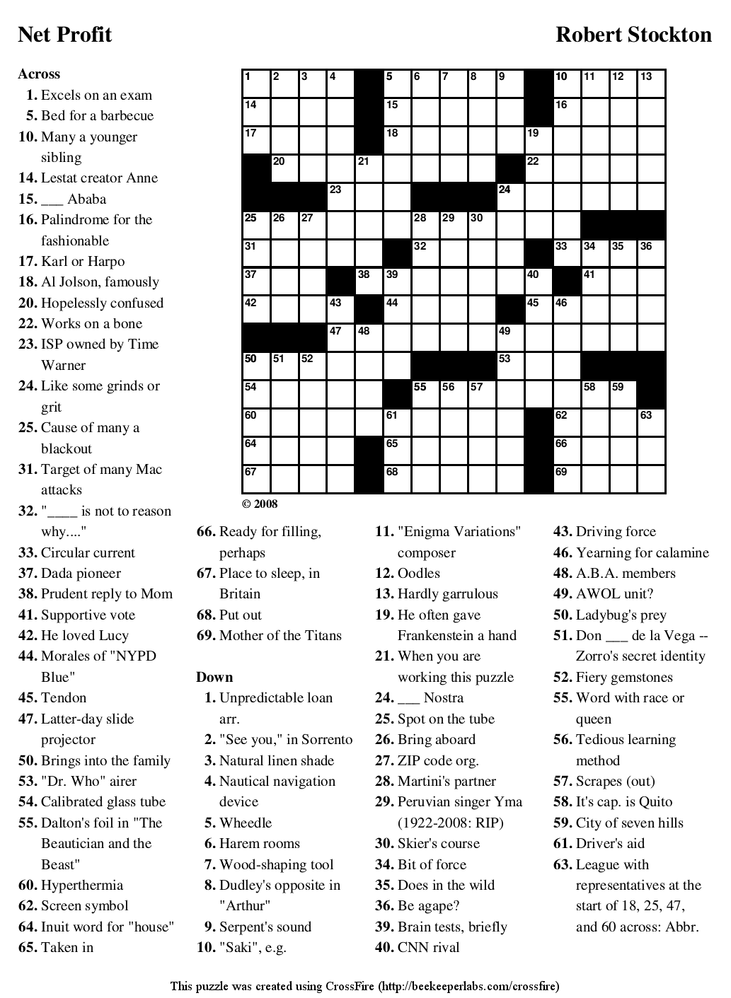 Search Results For Large Printable Easy Crossword Puzzle
