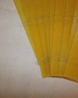 Wired Beeswax Foundation Sheets for British National Supers