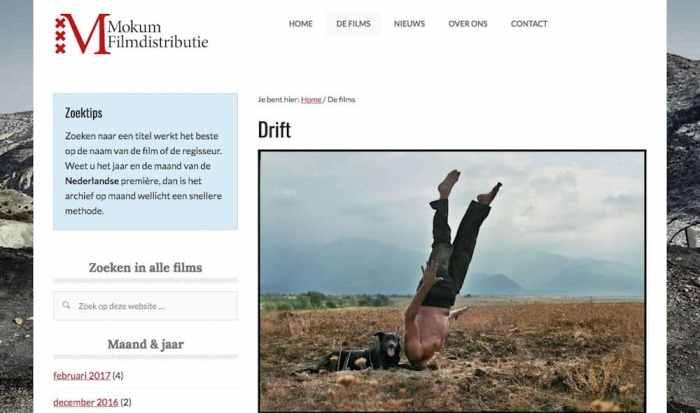 De nieuwe online catalogus van Mokum Filmdistributie