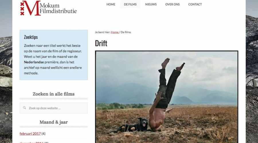 Nieuwe website Mokum Filmdistributie