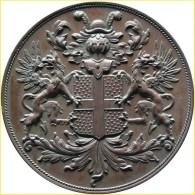Münze mit Wappen von Van Heeckeren. Familiewapens