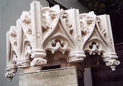 a canopy of Portland stone that I previously cut for St. John's Cathedral. In this case I did carve the stonemasonry work myself