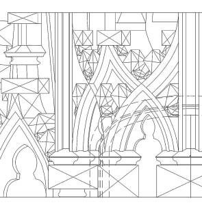 a detail of one of the CAD drawings for the baldachin