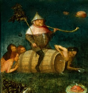 Hieronymus Bosch Fat man on Water Barrel