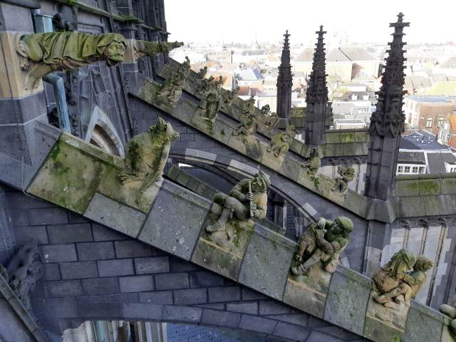 Flying buttresses of St. John's Cathedral in Den Bosch