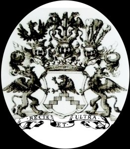 family coat of arms Von Bohlen for right hand griffin's shield