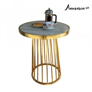 Anusarin Stainless steel Table โต๊ะกลมรับประทานอาหาร 60 cm -Gold