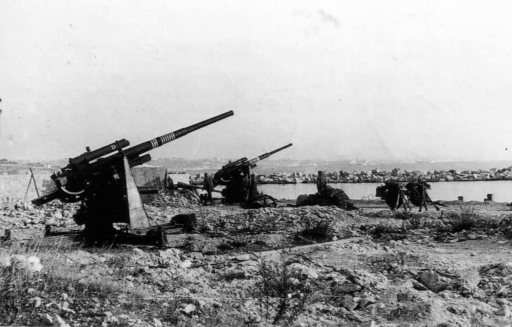 German FLAK 88 artillery guns