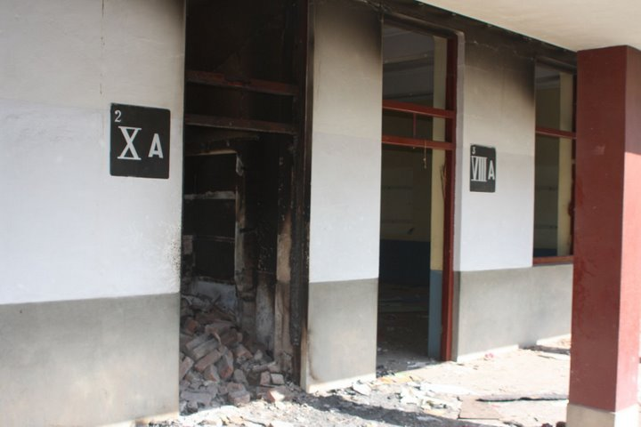 Sangota Girls Public School, Swat, destroyed by militants. Photo by Kamran Arif