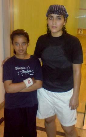 Anoosha Asim & Maria Toor, COAS Squash Champhionship 2009
