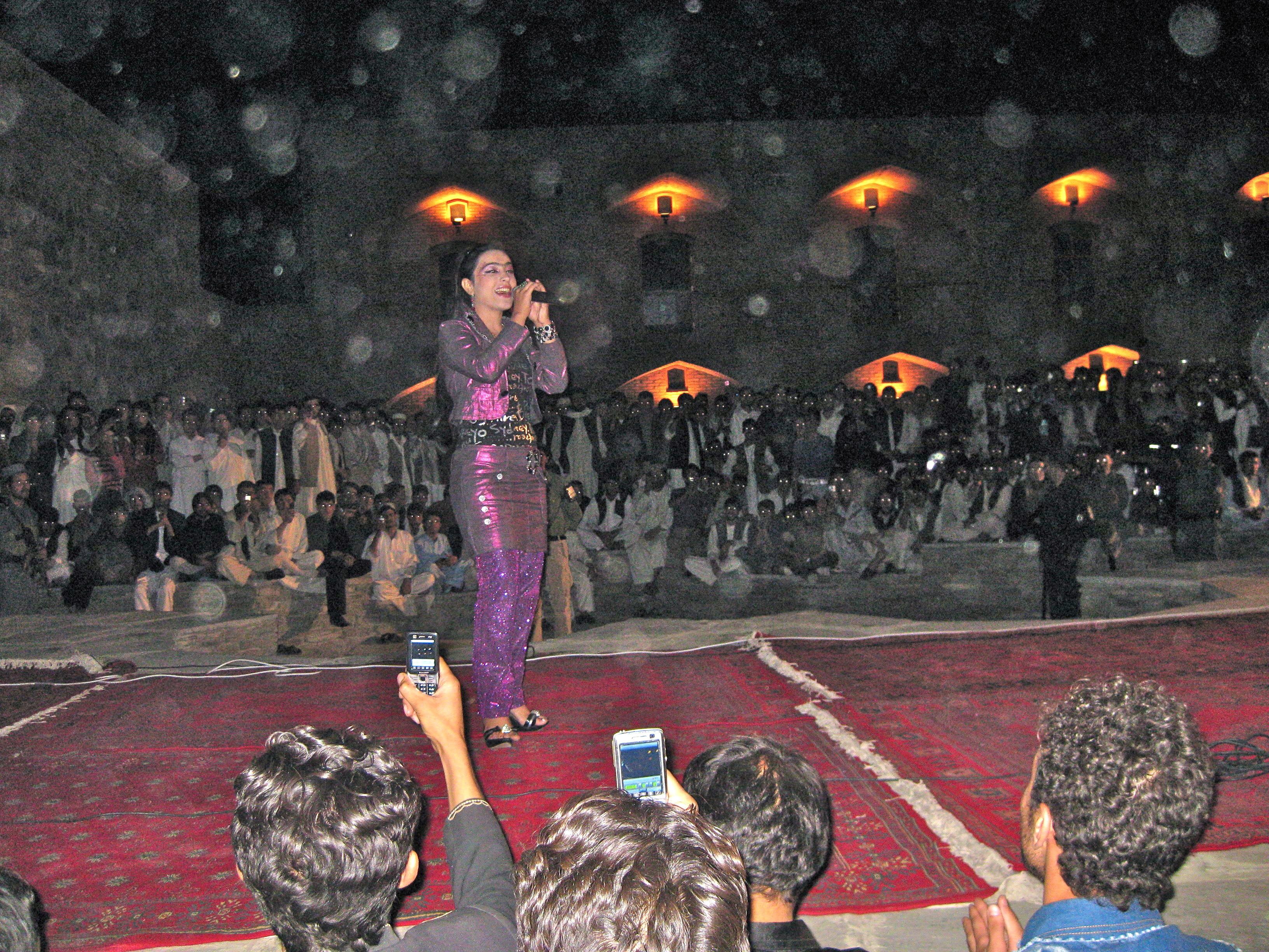 Tajik singer in Kabul