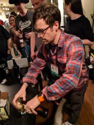 Sam pouring some Copper Malt Brewola