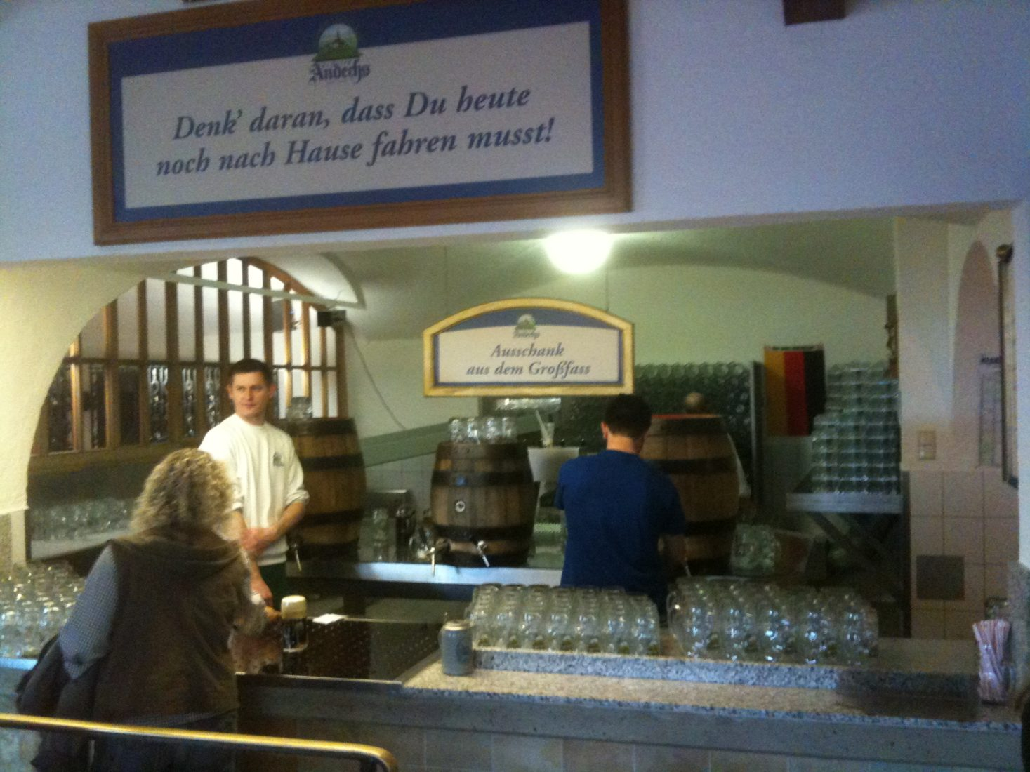 Beer at the Kloster Andechs
