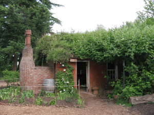 "McMenamins' ""Little Red Shed"" (former poorhouse incinerator), Edgefield, OR"