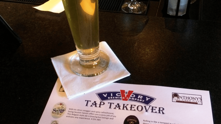 Victory Takes the Taps at Anthony's Coal Fired Pizza